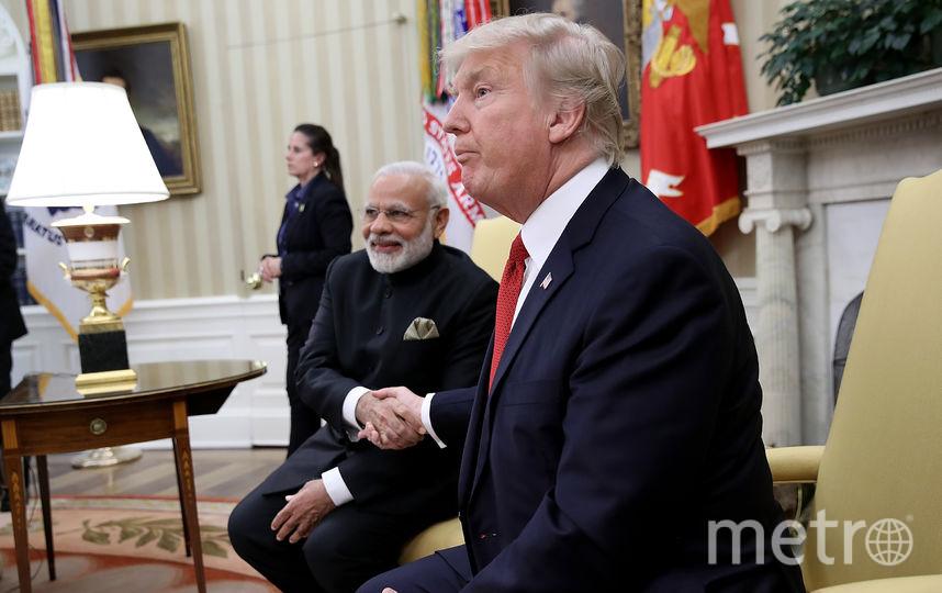Трамп встретился с премьер-министром Индии. Фото Getty