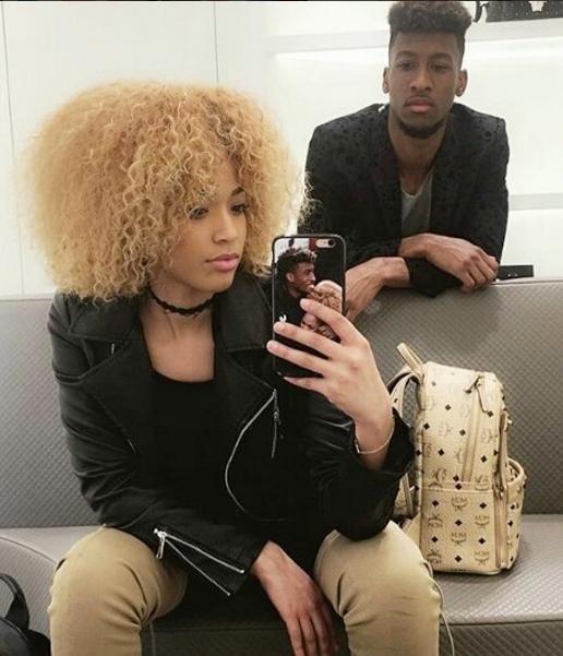 "Футболист ""Баварии"" Кингсли Коман со своей девушкой. Фото instagram"