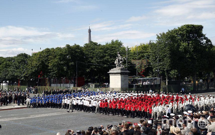 Военный парад в честь дня взятия Бастилии. Фото Getty