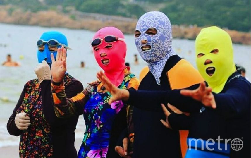 Пляжный тренд Facekini набирает популярность по всему миру. Фото Скриншот Instagram