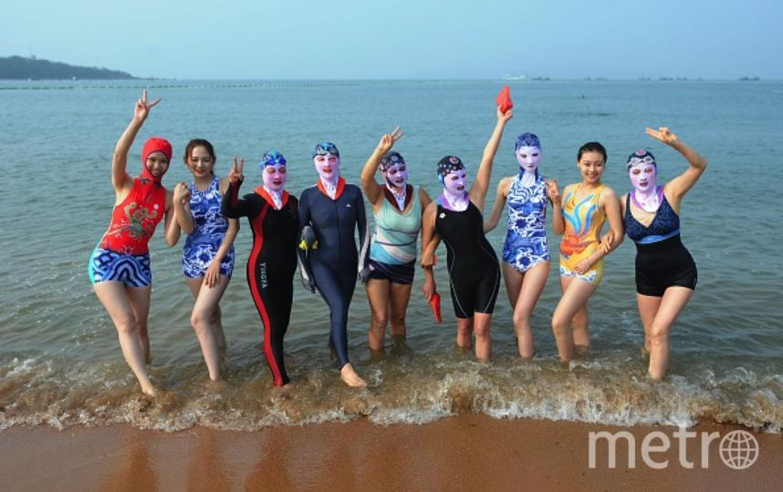 Пляжный тренд Facekini набирает популярность по всему миру. Фото Getty