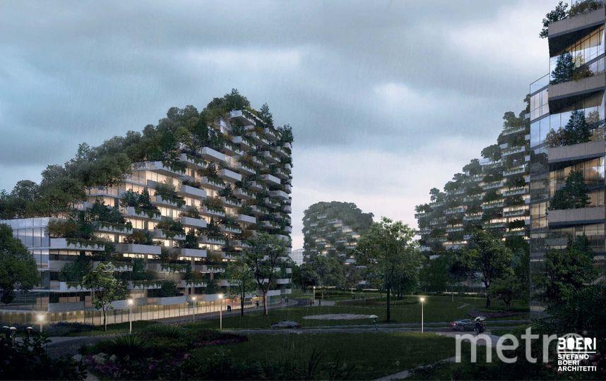 """Так будет выглядеть """"Зелёный город"""". Фото Stefano Boeri Architetti"""