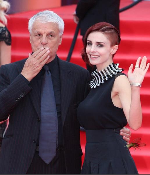 Микеле Плачидо с супругой.