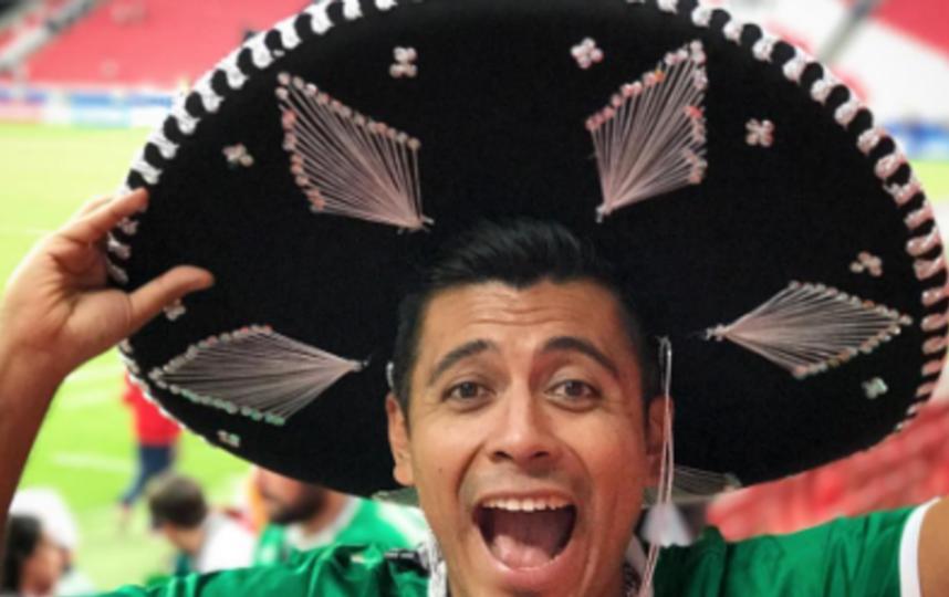 Мексиканский болельщик сбежал на футбол от жены. Фото Скриншот Instagram