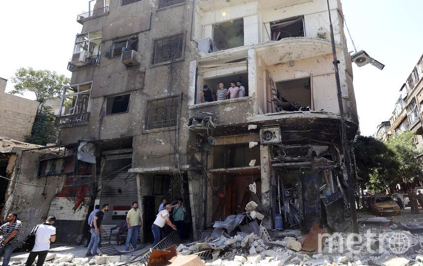 Взрыв в Дамаске. Фото AFP