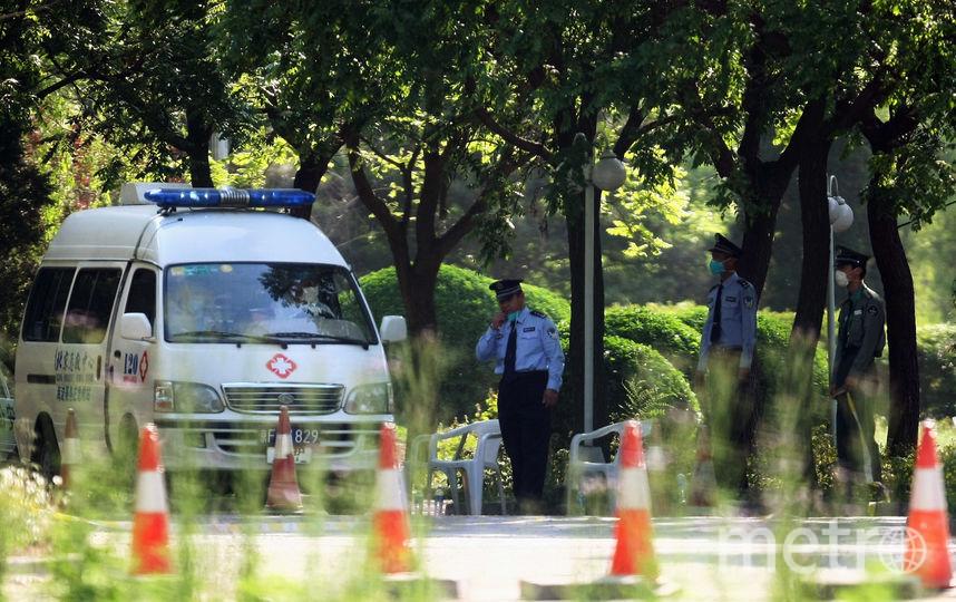 Скорая помощь и полиция в Китае. Фото Getty