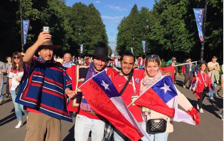 Чилийские болельщики парализовали питерское метро
