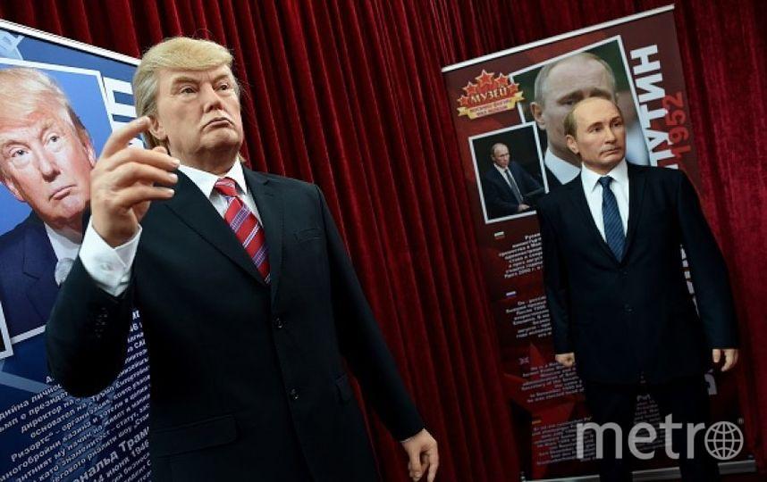 Восковые фигуры Дональда Трампа и Владимира Путина. Фото Getty