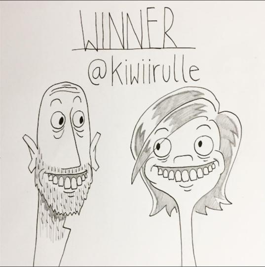 Рисунок Пита. Фото Скриншот Instagram/kellie_and_pete