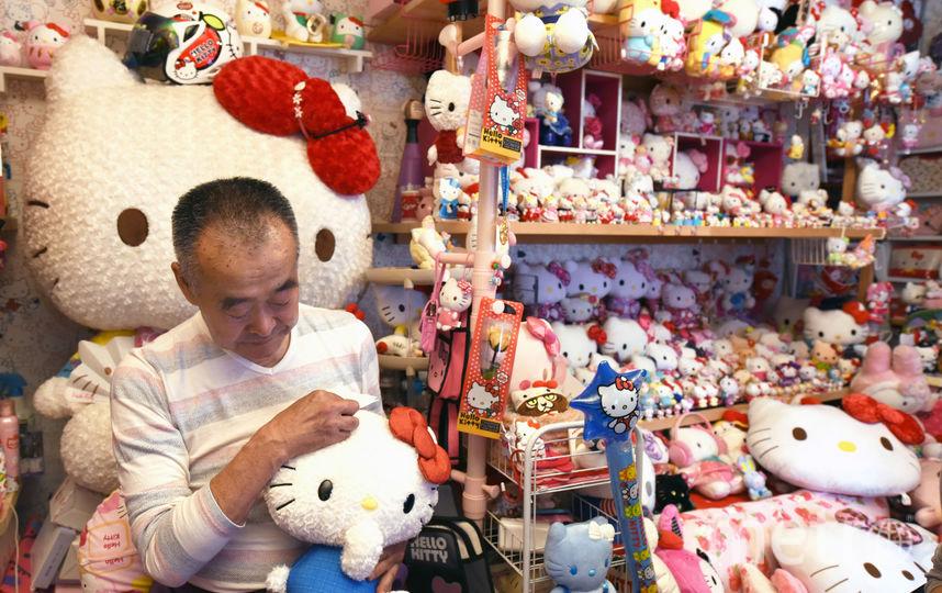 Отставной японский полицейский стал обладателем самой большой в мире коллекции кукол Hello Kitty. Фото AFP