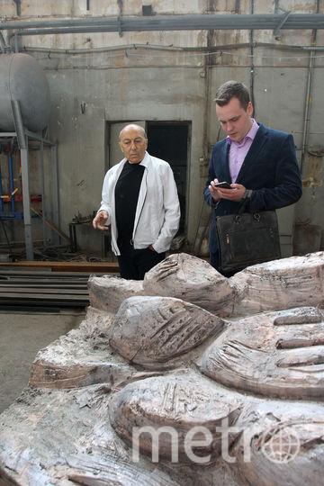Над «Стеной скорби» работает известный скульптор Георгий Франгулян, проект которого победил в специальном конкурсе. Основа композиции – возносящиеся фигуры-души людей, охваченных ужасом. Фото Василий Кузьмичёнок