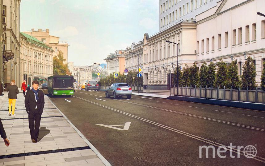 """Работы по программе """"Моя улица"""" на Большой Лубянке в Москве. Фото mos.ru"""