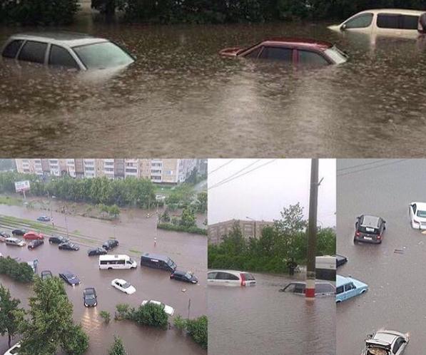 Фото потопа в Ульяновске. Фото соцсети, vk.com