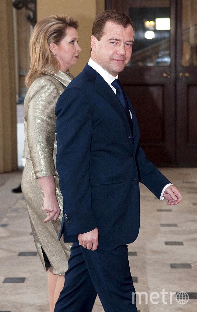 Светлана Медведева с Дмитрией Медведевым. Фото Getty