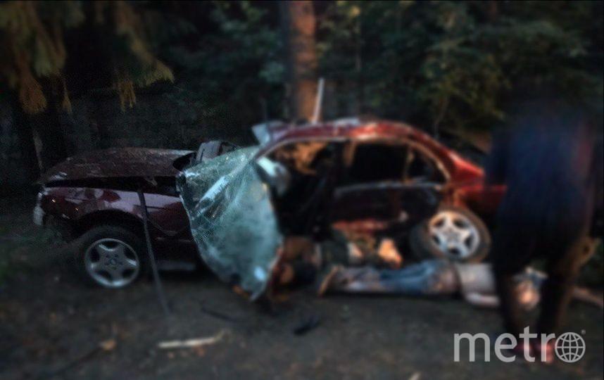 Очевидцы: В жутком ДТП под Комарово пострадали два человека. Фото «ДТП и ЧП | Санкт-Петербург», vk.com