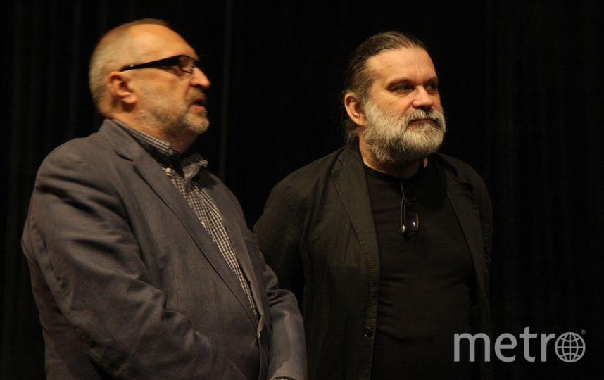 Кинокритик Андрей Поздняков и режиссер Андрей Могучий. Фото Михаил Садчиков-младший