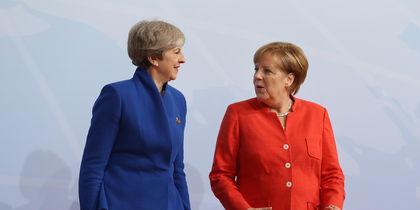 Канцлер Германии Ангела Меркель и премьер-министр Великобритании Тереза Мэй. Фото Getty
