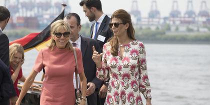 Брижит Макрон и Хулиана Авада, первые леди Франции и Аргентины. Фото Getty