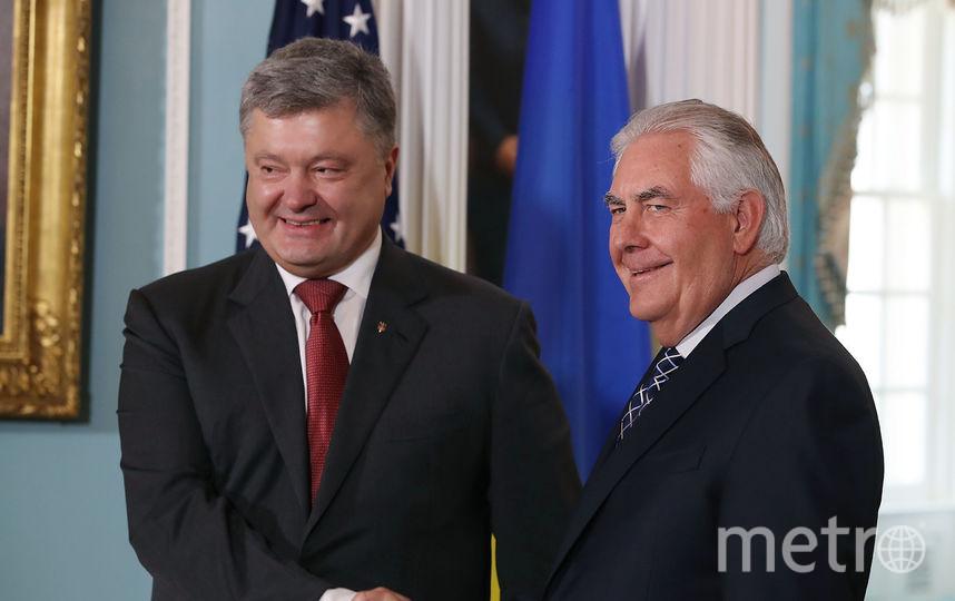 Госсекретарь США Рекс Тиллерсон и президент Украины Пётр Порошенко. Фото Getty