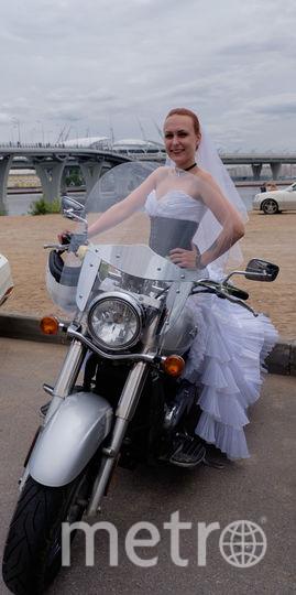Ирина Макина, участница мотопробега невест.