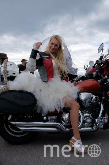Мила Никонова, участница мотопробега невест.