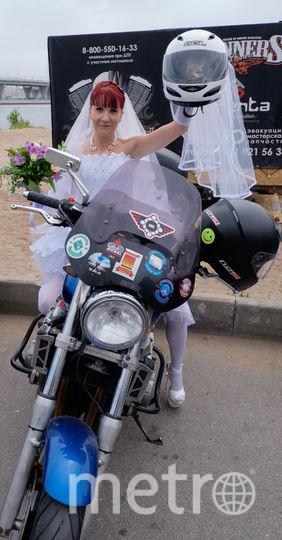 Татьяна Шереметьева, участница мотопробега невест.