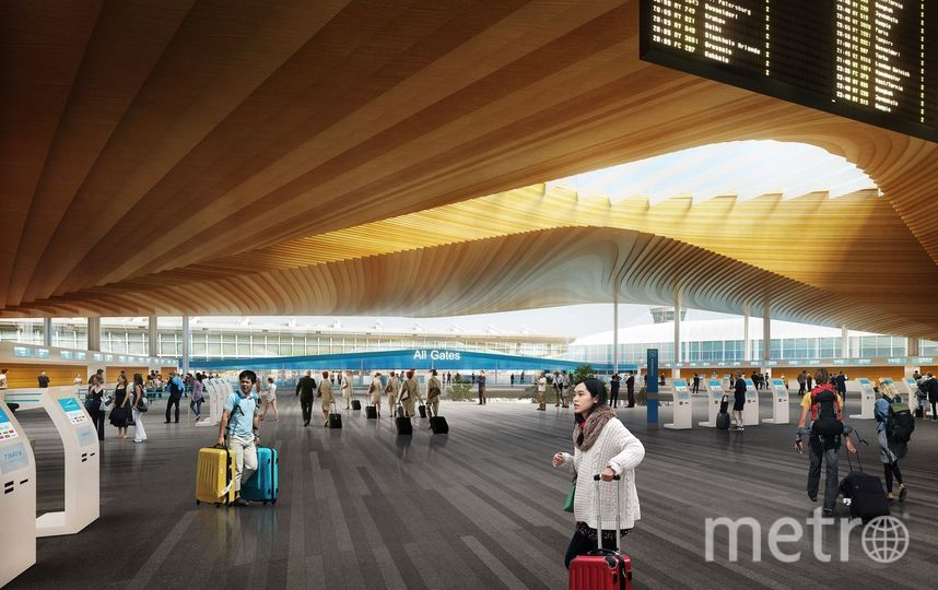 Так аэропорт будет выглядеть изнутри после завершения модернизации. Фото представлены Finavia