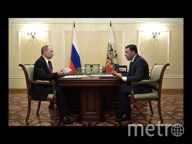 Встреча Путина с главой Свердловской области.