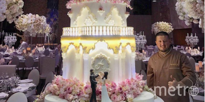 Свадебный торт. Фото Скриншот Instagram/renat_agzamov