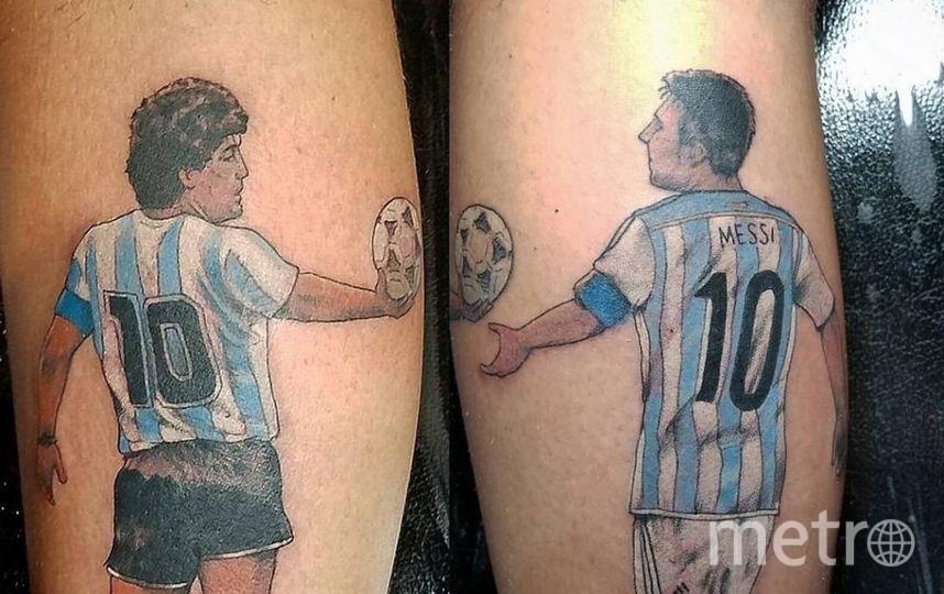 Не утихают споры о том, кто является величайшим аргентинским игроком – Диего Марадона или Лионель Месси. Один из фанатов Альбиселесте не делает различий и увековечил на себе обоих. Фото Все фото – Instagram, Twitter, Скриншот Youtube, «ВКонтакте»