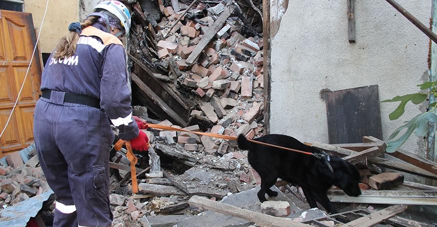 В Сочи обрушился дом: есть жертвы. Фото Скриншот видео