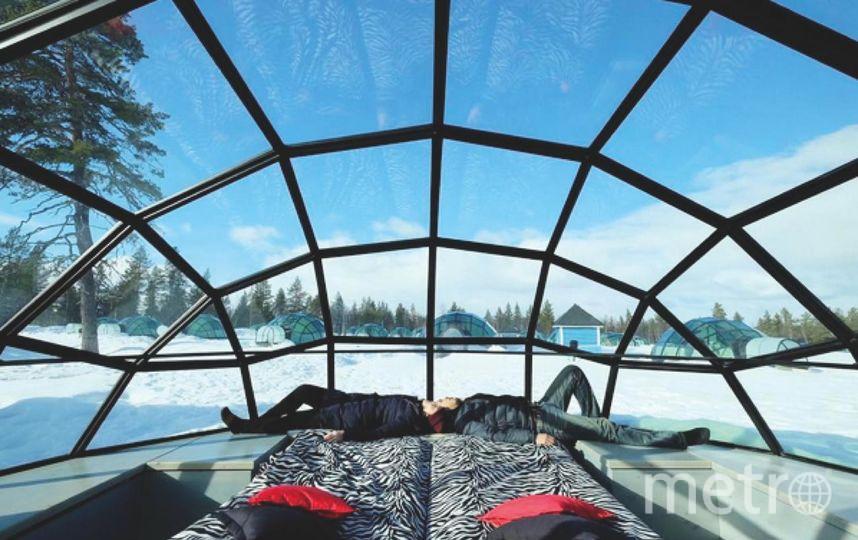 Стеклянные иглу в Финляндии. Фото Instagram
