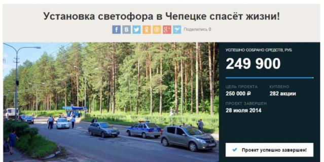 Светофор в Кирово-Чепецке.