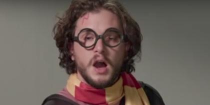 Кит Харингтон в образе Гарри Поттера. Фото Скриншот Youtube