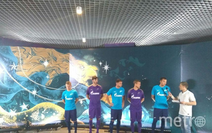"""ФК """"Зенит"""" презентовал новую форму на сезон 2017-2018."""
