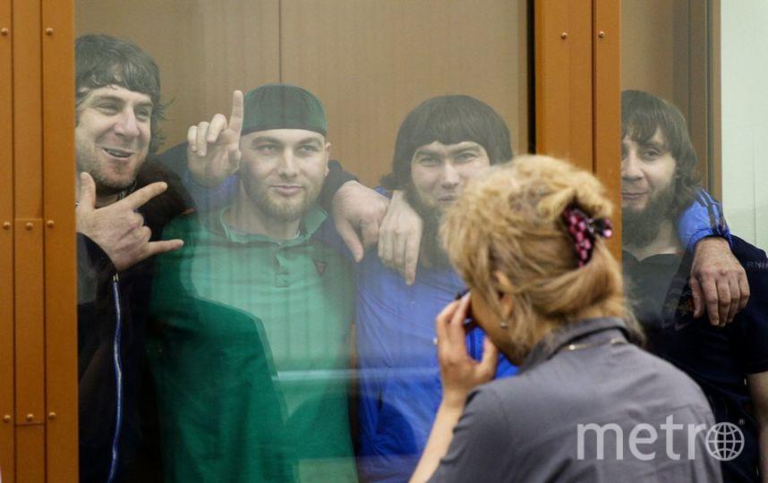 """Пока судьи не было в зале, подсудимые смеялись и шутили. Фото АГН """"Москва""""/Кирилл Зыков"""
