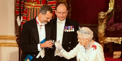 Торжественный ужин в честь короля и королевы Испании. Фото Getty