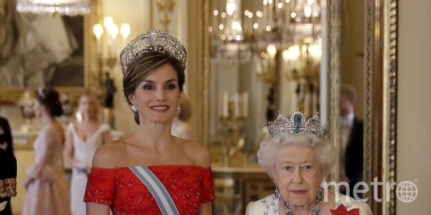 Королева Елизавета и королева Испании. Фото Getty