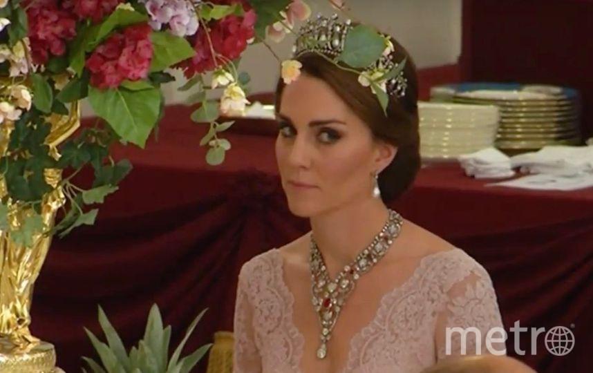 Кейт Миддлтон надела любимую тиару Дианы на праздничный  прием вБукингемском замке