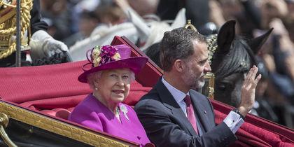Королева Елизавета и король Испании. Фото Getty