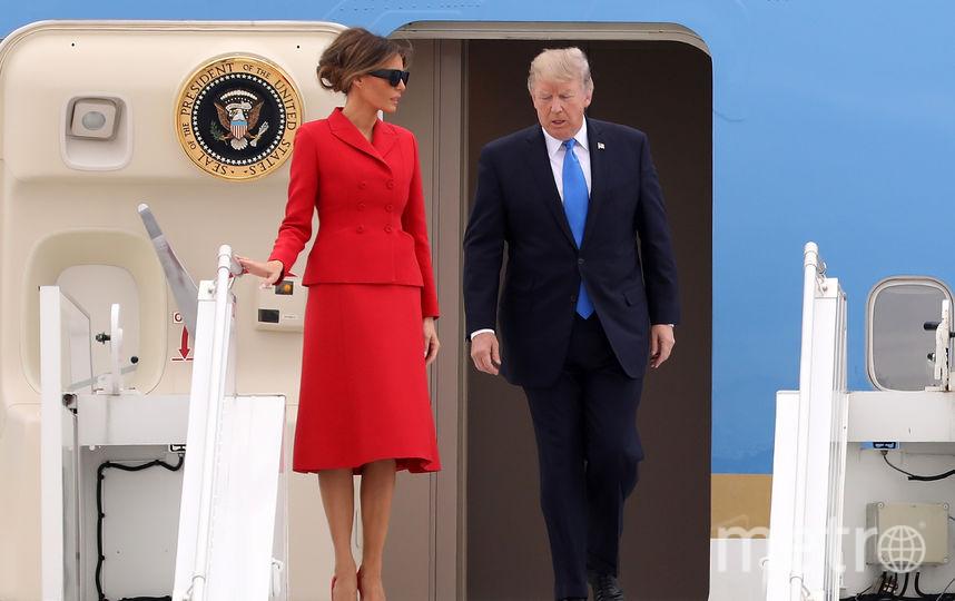 Дональд и Мелания Трамп прибыли в аэропорт Орли. Фото Getty