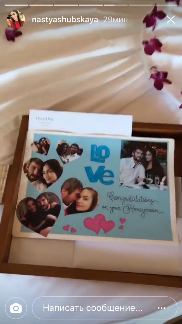 Медовый месяц Овечкина и Шубской. Фото Instagram Анастасии Шубской.