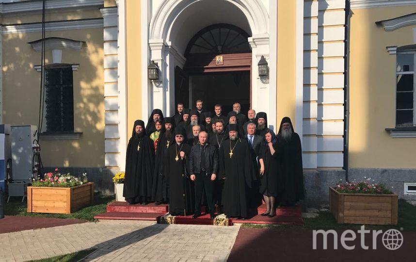 Владимир Путин вновь посетил Коневский монастырь. Фото предоставлены епархией.