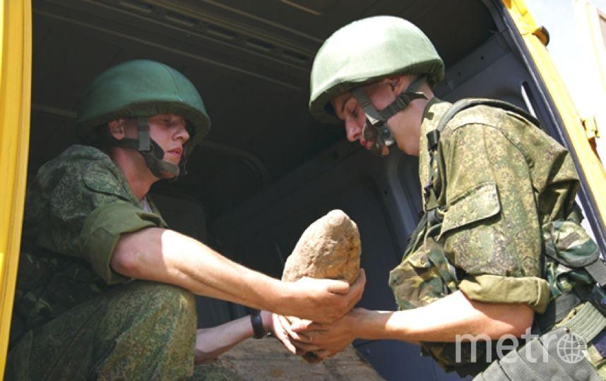 Снаряд передан для уничтожения военным сапёрам.