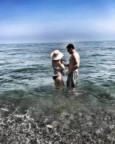Ксения Собчак и Максим Виторган с сыном. Фото Instagram Ксении Собчак.