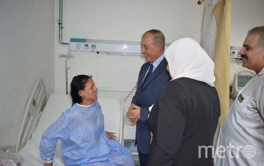 Пострадавших в больнице в Хургаде навестил губернатор Красного моря Амед Абдулла. Фото AFP