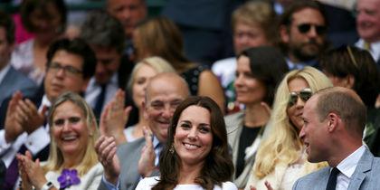 Кейт Миддлтон и принц Уильям на Уимблдонском турнире. Фото Getty