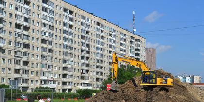 """Проспект Наставников превратился в огромную строительную площадку. Фото Ольга Рябинина, """"Metro"""""""