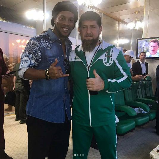 Роналдиньо и Рамзан Кадыров. Фото www.instagram.com/ronaldinho