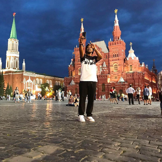 Роналдиньо в Москве. Фото www.instagram.com/ronaldinho